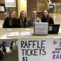 These CCVI students are top sellers! Raffle tickets to have lunch with the authors. Sales were busy! image