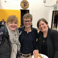 Robin Todd, centre, with visiting Guelph teachers from Rickson Ridge PS. image