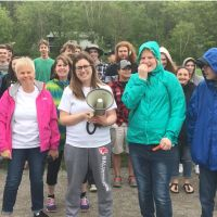 In 2017, Teacher Michele Shapira (pink jacket) and staff and students at Haliburton Highlands raised a record $5,200. image
