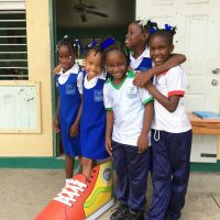 Awefully big shoes for Micoud Primary students to fill–but happy to try! image