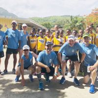 2018 Day 1 Start line with students at Soufriere Primary School. image