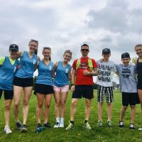June 2019 Staff and students from CCVI join Rickson Ridge PS as they gear up for their school-wide relay. image
